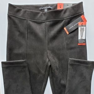 Women's Andrew Marc Suede Pull On Pants - NWT /